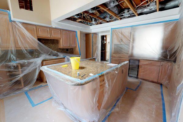 Work being done in a kitchen