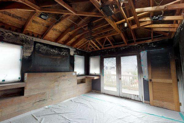 Contruction work inside a home